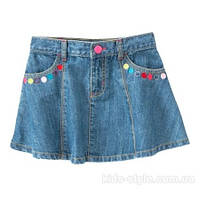 Юбка джинсовая разноцветные пуговицы Crazy8