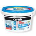 Эластичная водостойкая затирка для швов БЕЛЫЙ Ceresit CE-40, до 5 мм.  5 кг.