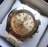 Наручные мужские часы Hublot Gold, стильные часы мужчине