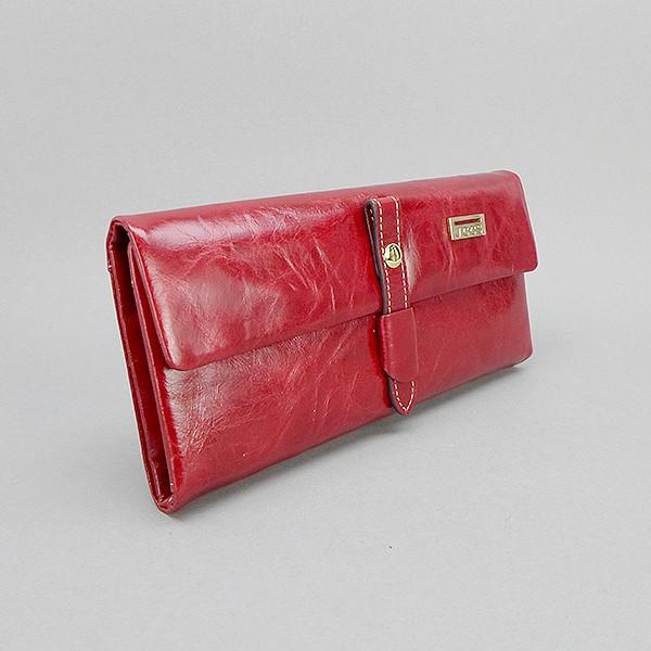 Кошелек кожаный женский красный JCCS 1008