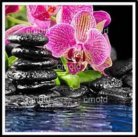 """Алмазная живопись """"Орхидея и вода"""""""