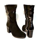 Ботинки женские демисезонные на устойчивом каблуке в классическом стиле, фото 4
