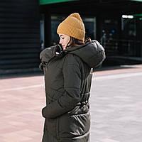 """""""Хаки"""" Зимняя слингокуртка 3 в 1 Love & Carry Зима 2020 Пальто для беременных, фото 1"""