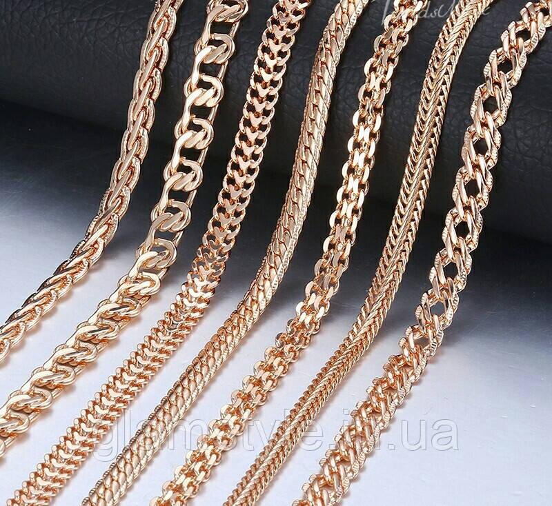 Цепочки на шею под золото. Длина 50см и 60см