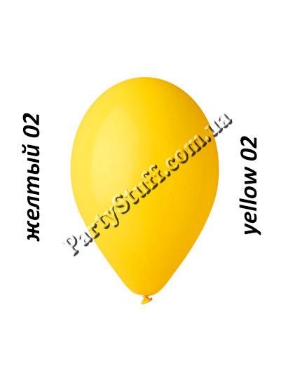Шарики желтые gemar 12 дюймов