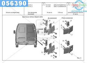 ⭐⭐⭐⭐⭐ Дверь задка ГАЗ 2705,3221 (с окном) левая (новые двери+старые петли) (производство  ГАЗ)  2705-6300015-30