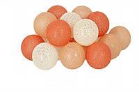 Гирлянда тайская декоративная Lighteer Technology Limited Sun Peace Cotton Balls 20led 6х330см (01074)