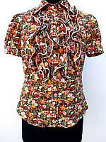 Нарядная женская блуза с рюшами 50