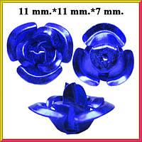 Набор Пайетки Розы Объемные Синий Цвет 20 штук Диаметр 11 мм для Рукоделия