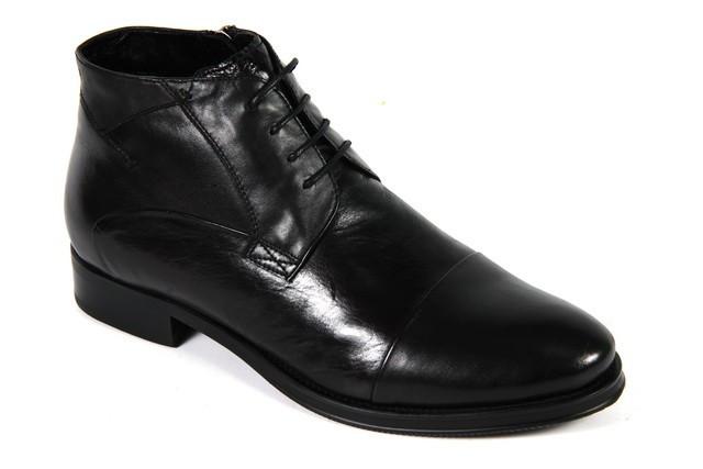 Мужские зимние ботинки на шнурках и молнии  VITTORIO VENTURA 18147B07-M   39