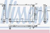 ⭐⭐⭐⭐⭐ Радиатор охлаждения РЕНО KANGOO I (98-) 1.2 i 16V (производство  Nissens)  637637