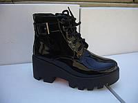 Ботинки  лаковые с пряжкой