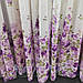 Тюль со шторами в зал, сиреневый цвет, лен и шанзализе, фото 2