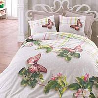 Комплект постельного белья двуспальный Cotton Box 3D Brenda Yesil Евростандарт