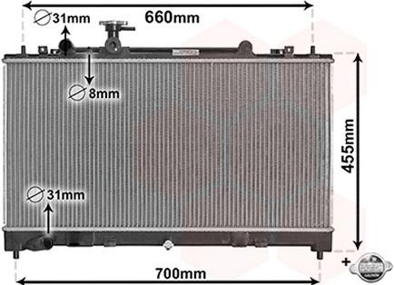 ⭐⭐⭐⭐⭐ Радиатор охлаждения МАЗДА 6 1.8i/2.0i(производство  Van Weze)  27002227