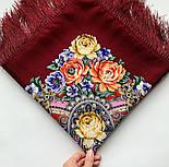 Девица-краса 1869-6, павлопосадский платок шерстяной с шелковой бахромой, фото 8