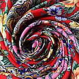 Девица-краса 1869-6, павлопосадский платок шерстяной с шелковой бахромой, фото 6