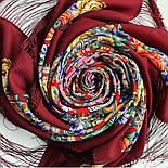 Девица-краса 1869-6, павлопосадский платок шерстяной с шелковой бахромой, фото 5