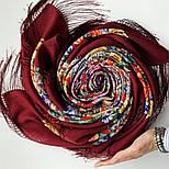 Девица-краса 1869-6, павлопосадский платок шерстяной с шелковой бахромой, фото 7