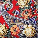Девица-краса 1869-6, павлопосадский платок шерстяной с шелковой бахромой, фото 3