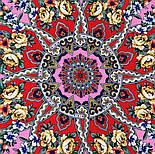 Девица-краса 1869-6, павлопосадский платок шерстяной с шелковой бахромой, фото 4