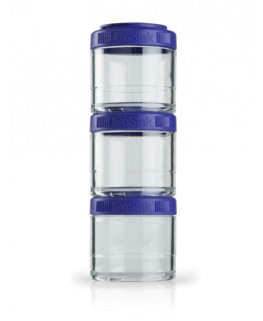 Набор спортивных контейнеров  BlenderBottle GoStak 3 Pak Purple (ORIGINAL)