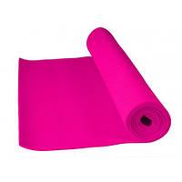 Фитнес коврик для йоги и фитнеса розовый Power System PS-4014 FITNESS-YOGA MAT Pink
