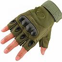 Перчатки без пальцев тактические Oakley (р.XL), оливковые, фото 2