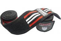 Эластичные бинты на колени 2 м Power System Knee Wraps PS-3700 Red/Black
