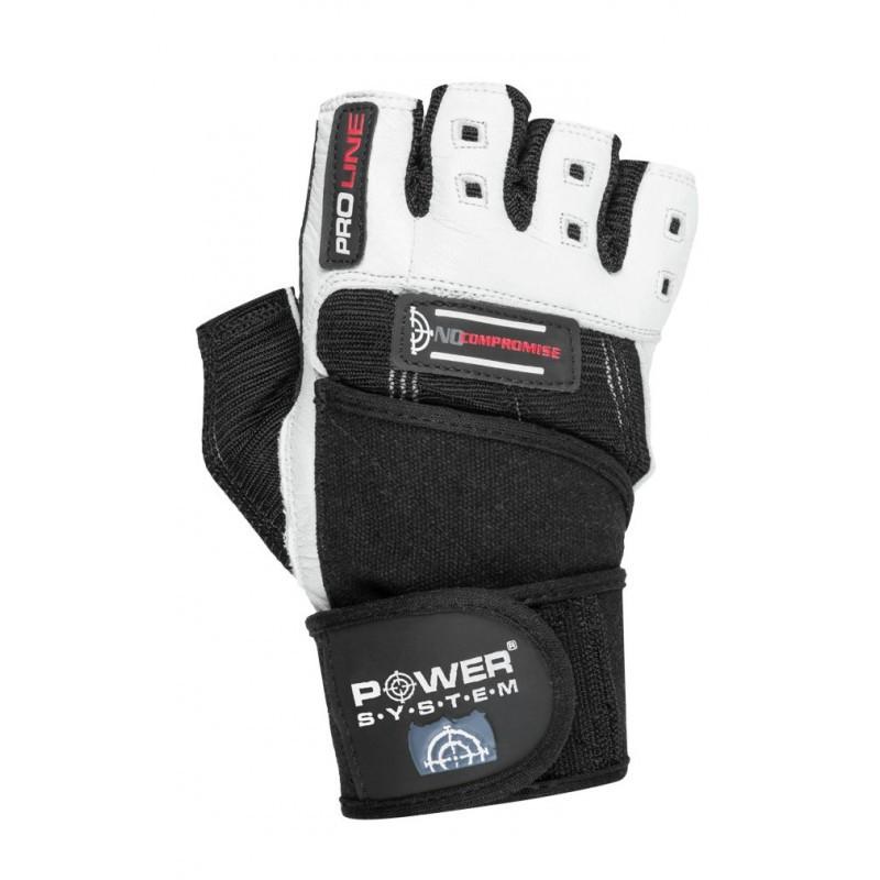 Перчатки для фитнеса и тяжелой атлетики Power System No Compromise PS-2700 XS Black/White