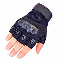 Перчатки без пальцев тактические Oakley (р.XL), черные