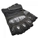 Рукавички без пальців тактичні Oakley (р. XL), чорні, фото 4
