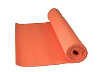 Фитнес коврик для йоги и фитнеса оранжевый Power System PS-4014 FITNESS-YOGA MAT Orange