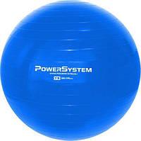 Фитбол 75 см синий мяч для фитнеса и гимнастики POWER SYSTEM PS-4013