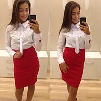 Стильная белая женская блуза Monga d-21385