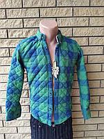 Рубашка мужская теплая стеганая на синтепоне коттоновая брендовая высокого качества ONLINE, Турция
