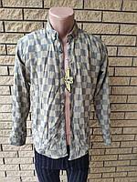 Рубашка мужская теплая на меху коттоновая брендовая высокого качества ONLINE, Турция