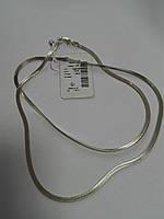 Срібний ланцюжок з плетінням Снейк