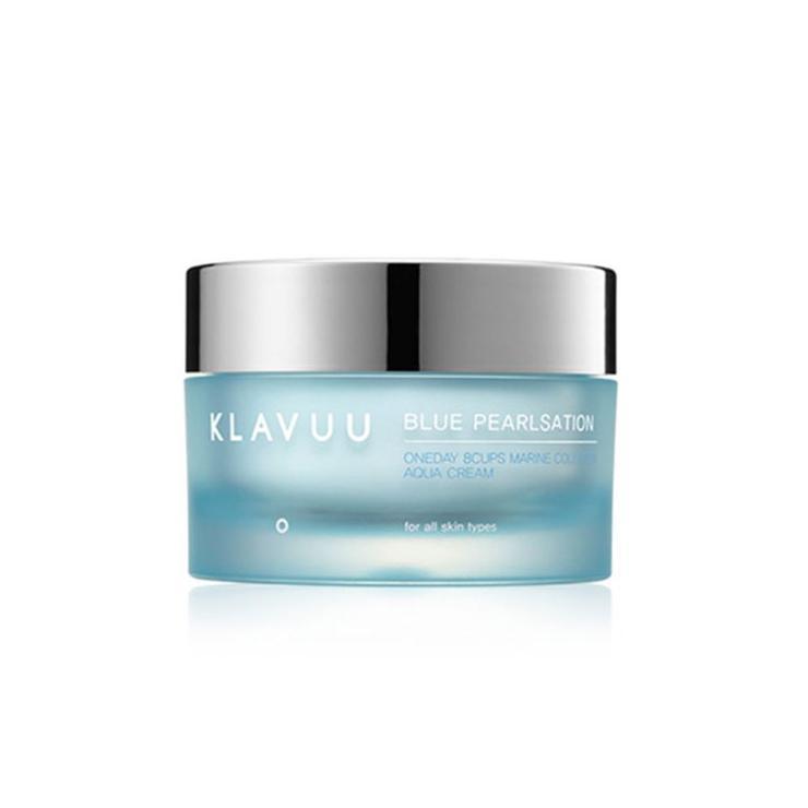 Крем увлажняющий с морским комплексом Klavuu Oneday 8cups Marine Collagen Aqua Cream, 50 мл.