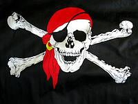 """Пиратский флаг """"Весёлый Роджер"""" 153*89 см.(большой)"""
