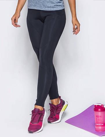 Лосины для фитнеса черные бифлекс, фото 2