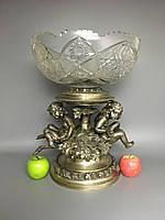 Антикварное старинное столовое серебро антикварная Серебряная ваза конфетница мебель Антиквариат Украина Киев