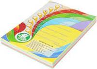 Папір кольоровий 5 цветов пастель A4, 80 г/м2, 100 ар