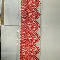 Мереживо стрічка (набір - 3 смужки) Червона