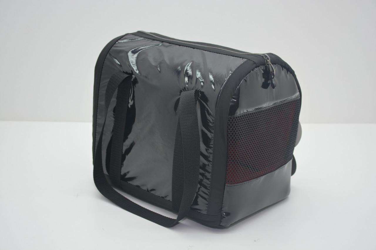 Сумка-туннель Диско для переноски котов и собак черная
