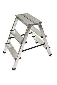 Лестница двусторонняя алюминиевая 2х3