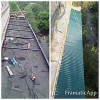 Монтаж дахів на балконів