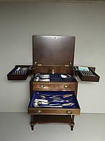 Антикварный серебряный набор вилки ножи ложки столовое серебро антикварная мебель Антиквариат Украина Киев