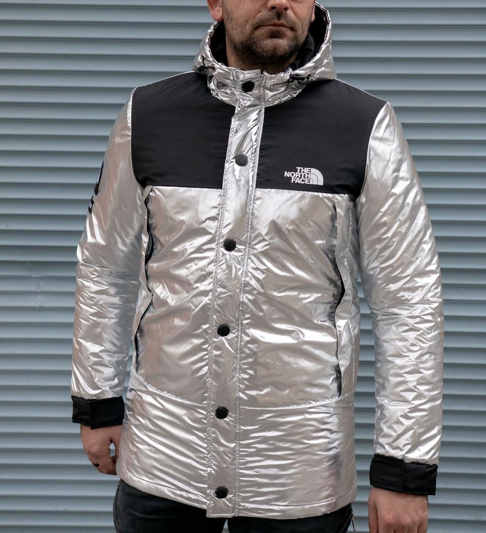 Куртка мужская серебро The North Face. Куртка чоловіча. ТОП КАЧЕСТВО!!!