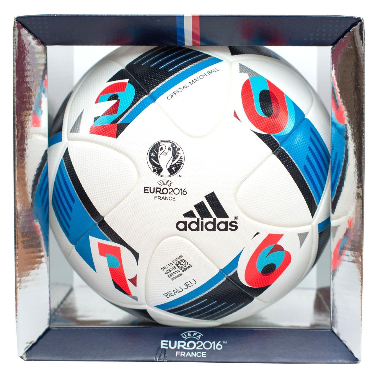 Мяч футбольный Adidas UEFA EURO 2016 OMB AC5415, фото 1